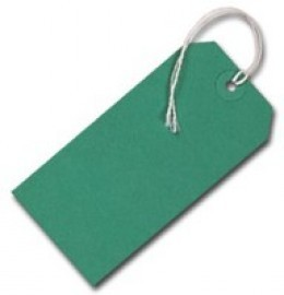 Strung Tags Green [Pack of 1000]