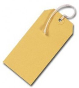 Strung Tags Yellow [Pack of 1000]