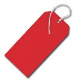 Tags Strung 5 424 Red Sngl TG8083 [Pack of 1000]