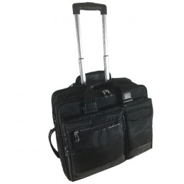Falcon Mobile Laptop Trolley Case 15.6 Inch Black