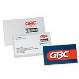GBC Slotted Luggage Card Pouch 125 micron [Pack of 100]