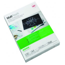 Acco Laminating Pouch 75mic Matt A4 [Pack of 100]