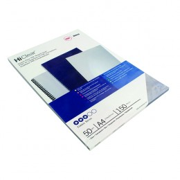 GBC Binding Covers 150mic Economy PVC Clear [Pack of 50]