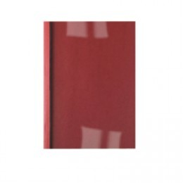 GBC 1.5mm 250g Thermal Covers Gloss Clear and Red [Pack of 100]