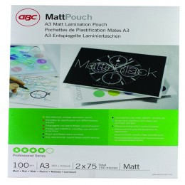 GBC Pouch A3 Matt 150mic [Pack of 100]