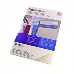 GBC Polyclear Covers Frosted Clear and Matt [Pack of 100]