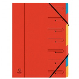 Europa 7 Part Organiser Red