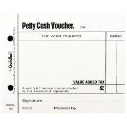 Guildhall Petty Cash Pad White [Pack of 5]