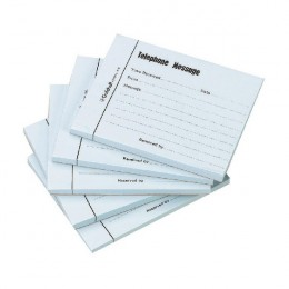 Guildhall Telephone Message Pad 100 Leaf Blue [Pack of 5]