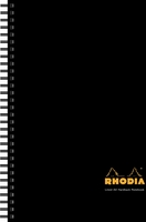 Rhodia Business Book A4 Wirebound HB Notebook Black [Pack of 3]