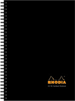 Rhodia A-Z Index Book A5 Wirebound Hardback Black [Pack of 3]