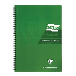 Europa A5 Notebook 180 Pages Green [Pack of 5]