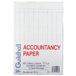 Guildhall Accountancy Paper 16 Cash Columns [240 Sheets]