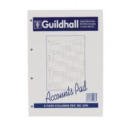 Guildhall Account Pad 6 Cash Columns