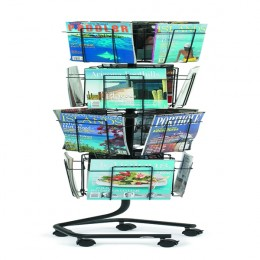 Safco 16 x A4 Pockets Rotating Floor Display