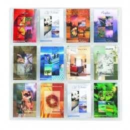Safco Reveal 12 x A5 Literature Organiser Pocket Clear Display