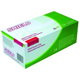 Shield Powder Free Latex Gloves M [Pack of 100]
