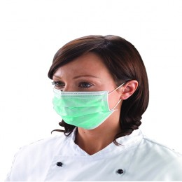 Shield Disposable Face Masks Green [Pack of 50[
