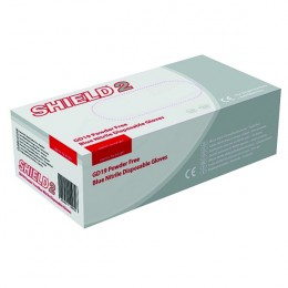 Disposable Blue Nitrile Gloves Powder Free M [Pack of 100]