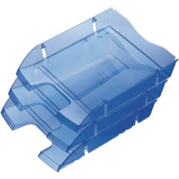 Helit PET Recycled Letter Tray Blue