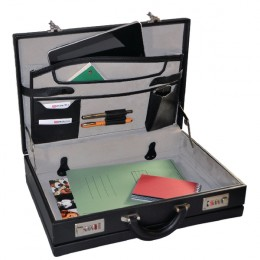 Monolith Expanding Attache Case PVC Black
