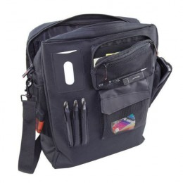 Monolith Nylon Laptop Backpack Black and Grey