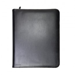 Monolith Conference Folder Zipped Leather A4 Black [Alternative Picture 1]