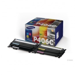 Samsung CLT-P406C 4-PACK CYMK Standard Yield Toner Cartridges [Pack of 4]