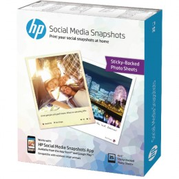 HP Social Media Snapshots 10x13cm [Pack of 25]