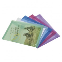 Rapesco ECO Popper Wallet A4 Assorted [Pack of 5]