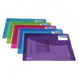 Rapesco ID Popper Wallet Translucent Assorted [Pack of 5]