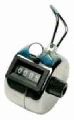 Helix Hand Held Tally Counter Chrome