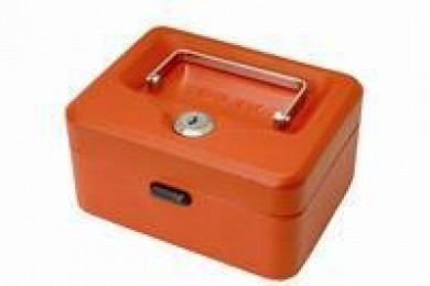 Helix Value Cash Box 6IN Red WN6060