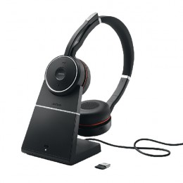 Jabra Evolve 75 MS Bluetooth wireless Stereo headset with Stand