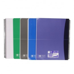 Oxford Office Wirebound Notebook Soft Cover A4 Assorted [Pack of 5]