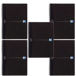 Oxford Office Smart A4 Wiro Notebook Soft Black [Alternative Picture 1]