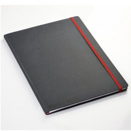 Black and Red Soft Touch A4 Notebook with Free A6 Book