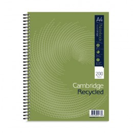 Cambridge Recycled A4 Notebook Plus 200 Pages [Pack of 3]