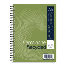 Cambridge Recycled A5 Notebook Plus 200 Pages [Pack of 3]