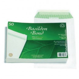 Basildon Envelopes C5 White Pocket 100g [Pack of 50]