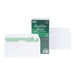 Basildon Envelopes DL Wallet 100g White [Pack of 100]
