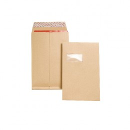 New Guardian Gusset Envelopes Peel and Seal C4 Window Manilla [Pack of 100]