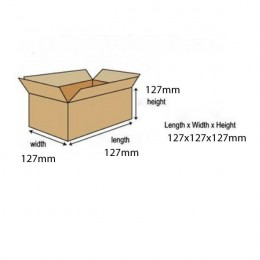 Single Wall Corrugated Boxes 127x127x127mm [Pack of 25]