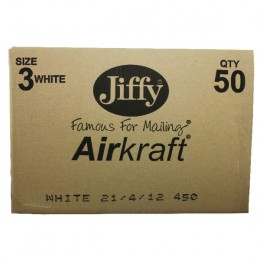 Jiffy Airkraft White 220x320mm [Pack of 50]