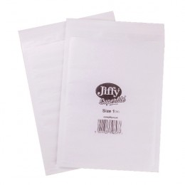 Jiffy Superlite Foam Lined Mailer Size 1 170x245mm White