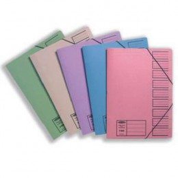 Concord Nine Part File Foolscap Assorted [Pack of 10]