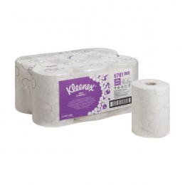 Kleenex Ultra Slimroll 2 Ply White Hand Towel Roll 100m Pack of 6