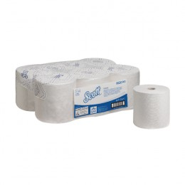 Scott Control 1 Ply White Hand Towel Roll 250m Pack of 6