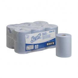 Scott Essential Slimroll 1 Ply Blue Hand Towel Roll 190m Pack of 6