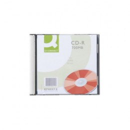 Q-Connect CD-R 700Mb, 80 Minute Slim Jewel Cases [Pack of 10]